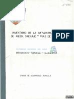 Inventario de La Infraestructura de Riego, Drenaje y Vias de Acceso ...