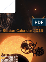 Elite Dangerous. A4 Calendar. Stations.2015