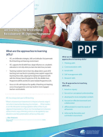 Approaches to Teaching and Learning - Onepage