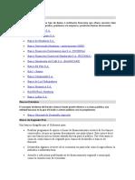 Bancos Comerciales Honduras