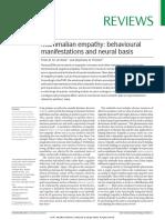 De Waal & Preston (2017) Mammalian Empathy- Behavioural Manifestations and Neural Basis