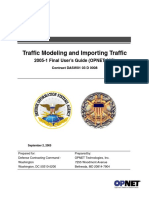 Traffic Modeling and Importing Traffic OPNET.pdf