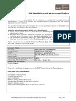 Job Description & Person Specification - IRC25351.doc
