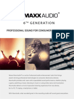 Maxxaudio v6 Technical Product Brief