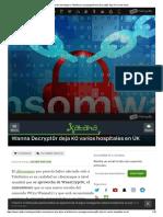 El Ransomware Del Ataque a Telefónica Se Propaga_Wanna Decrypt0r Deja KO Varios Hospi