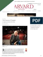 The Future of Theater in a Digital Age, Harvard Magazine January-February 2012
