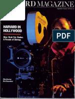 Harvard in Hollywood Harvard Magazine September-October 1987