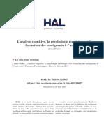 Analyse Cognitive Psychologie Numerique Hal