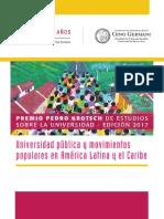 Premio Pedro Krotsch de estudios sobre la universidad – edición 2017
