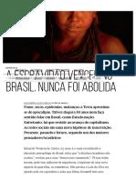 Viveiros de Castro.a Escravidão Venceu No Brasil