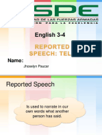 Reported Speech Tell
