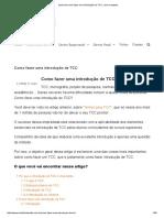 Aprenda Como Fazer Uma Introdução de TCC, Com Exemplos