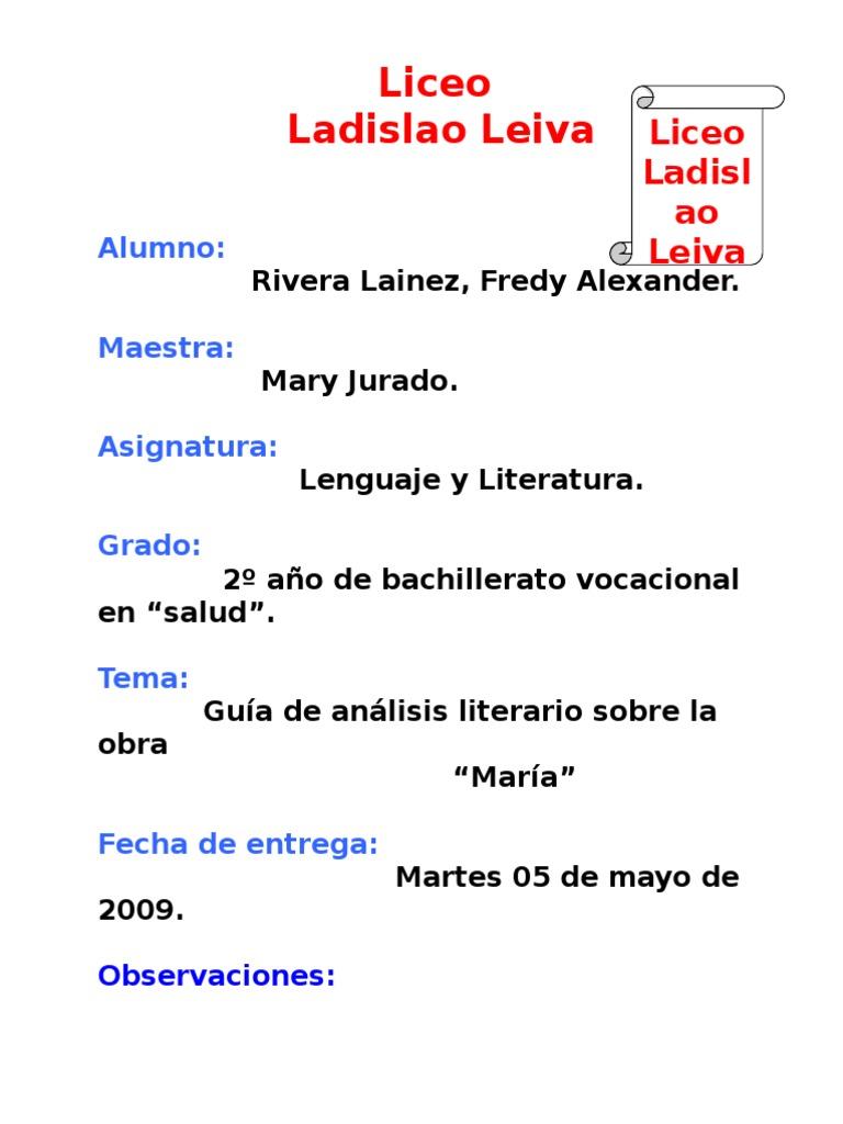 16024730 Analisis De La Obra Maria Doc