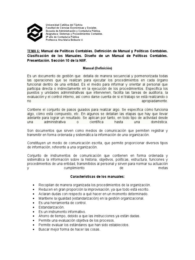 Dramcreamprof Manual De Procedimientos Contables Entidades
