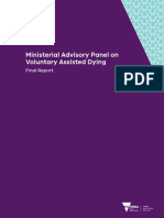 Ministerial Advisory Panel on Voluntary Assisted Dying Final Report