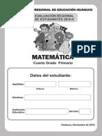 ECE 2016-II Matematica 4° Primaria