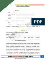 format contoh surat gugatan cerai isteri yang mengajukan