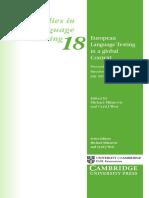 Studies in Language Testing Volume 18 2001