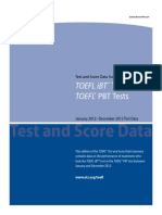 2012 Test & Score Data Summary for TiBT