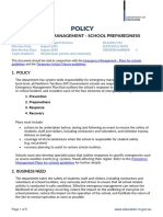 emergency-management- school-preparedness policy