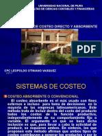 Sistema de Costeo Directo y Absorbente