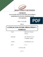Conflictos Entre Principios y Normas