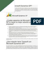 Que Es Microsoft Dynamics GP