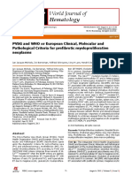 PVSG and WHO vs European Clinical, Molecular and Pathological Criteria for Prefibrotic Myeloproliferative