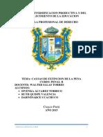Causas de Extincion de La Pena Penal en el derecho peruano