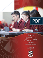2018 year 10 subject information booklet