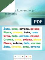 Vežbe Za Koncentraciju i Memoriju