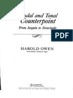 Harold Owen - Modal and Tonal Counterpoint