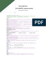 6 Programas en matlab