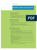 Steps - Oral Case Analysis