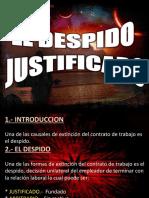 Diapositiva de Despido Justificado Miguel