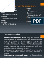 Parámetros Para Medir La Temperatura