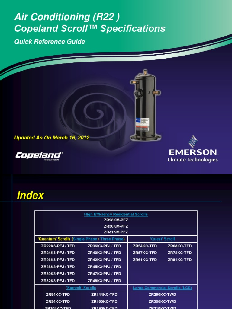 Copeland-Scroll-Compressors-Specifications-AC-Models-Only