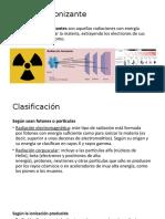 Radiación ionizante