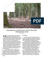 Kesepakatan Pengelolaan hutan bersama masyarakat