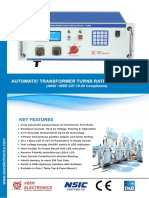 Catalog Automatic Transformer Turns Ratio Meter