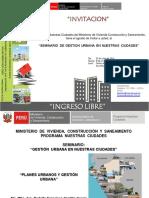 Seminario de Gestion Urbana en Nuestras Ciudades