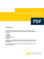 Free Critical Thinking Test Questions