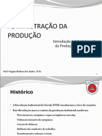 Aula 1 - Introducao a Administracao Da Producao e Operacoes