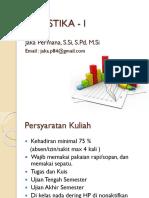 Statistika I - Pertemuan ke 1.pptx