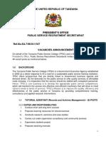 Nafasi Za Kazi TPSC NA E-Government 2017