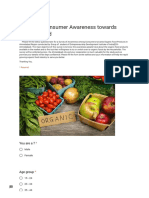 Survey of Consumer Awareness Towards Organic Food
