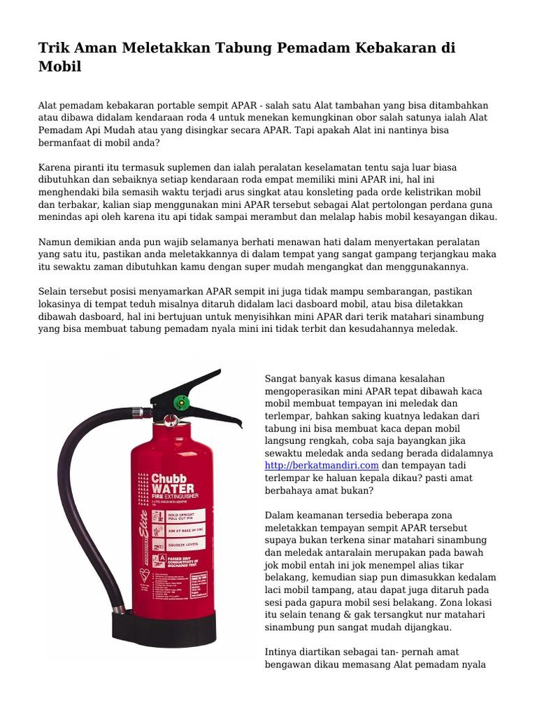 Trik Aman Meletakkan Tabung Pemadam Kebakaran Di Mobil Roda Sampingan 1539736835v1