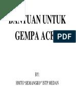 Bantuan Untuk Gempa Aceh
