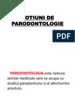 Notiuni de Parodontologie