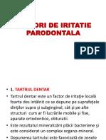 factori de Iritatie Parodontala